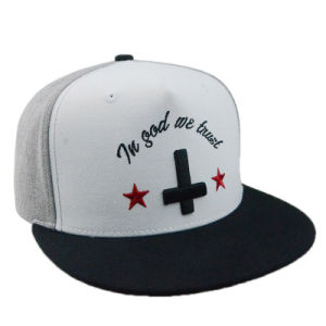 5 Panel Leisure Hat Promotional Gift Custom Embroidered Flat Brim Snapback Cap pictures & photos