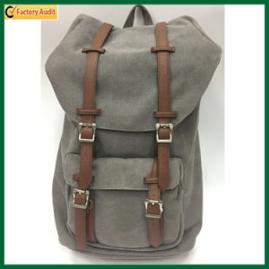 Hot Selling Canvas & Leather Travel Backpack Hiking Backpack (TP-BP201) pictures & photos