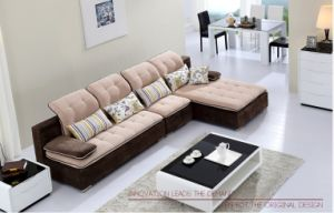 Khaki Color Modern Sofa for Your Living Room pictures & photos
