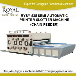 Two Semi-Automatic Printer Slotter Machine with Chain Feeder pictures & photos