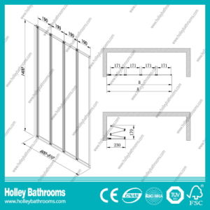 Good Quality Shower Screen with Tempered Laminated Glass (SE935C) pictures & photos