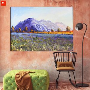 Decoration Oil Painting of Snow Lotus Hill pictures & photos
