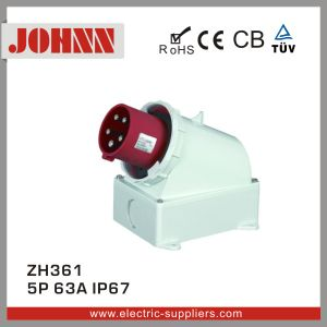 IP67 5p 63A Wall Mounted Plug for Industrial pictures & photos
