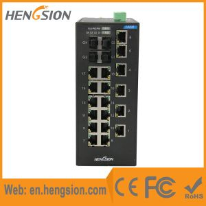 18 Port Industrial Ethernet Network Switch with 4 Gigabit Combo pictures & photos