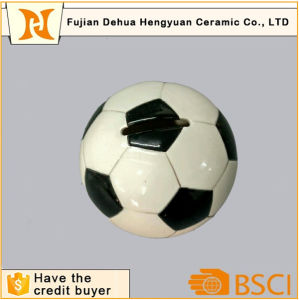 Ceramic Football Shape Coin Bank for Kids pictures & photos