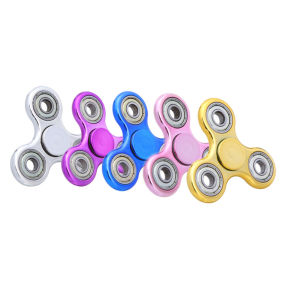 Customize Anti Stress Rainbow Fingertip Gyroscope Toy Triangle Metal Fidget Toy pictures & photos