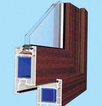 Acrylic Surface Laminating PVC Foil for U-PVC Window Profiles as Extrior Use pictures & photos