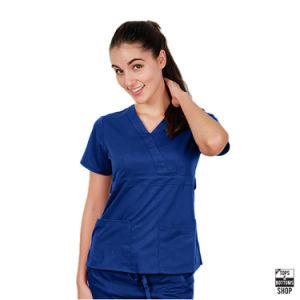 Women V Neck 2 Pocket Scrub Medical Nursing Uniform (A611) pictures & photos