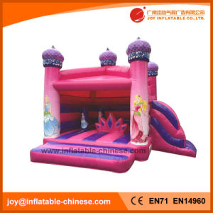Inflatable Pink Princess Jumping Castle for Amusement Park (T2-310) pictures & photos