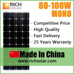 5W 10W 20W 40W 60W 80W 100W 130W 160W 200W 350W Monocrystalline 12V Solar Panel pictures & photos