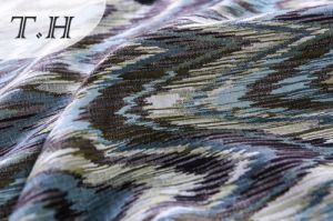 Upholstery Jacquard Fabric The Sawtooth Pattern Sofa Fabric (FTH32138) pictures & photos