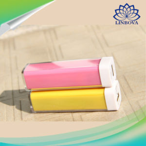 OEM Plastic Pipe Lipstick Power Bank 2600mAh pictures & photos