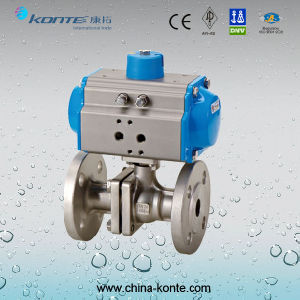 Q641f-16p/R 2PC Pneumatic Flanged Ball Valve Kt pictures & photos