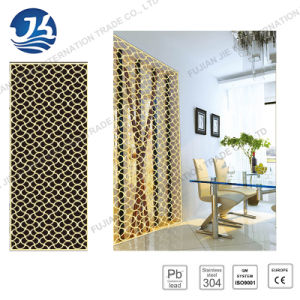 Chinese Style Living Room Furniture 304 Stainless Steel Folding Screen