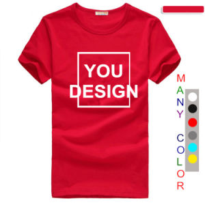 Custom Quality Cotton Screen Printing Polo T Shirt for Men of Round Neck pictures & photos