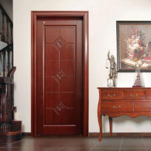 Solid Flat Carving Mahogany Wooden Bedroom Door (GSP2-080) pictures & photos