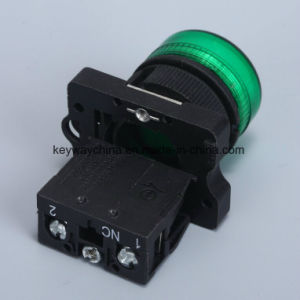 22mm Push Button Switch Keyway Brand with Red/Green/Yellow pictures & photos