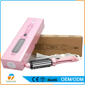 2 in 1 Styles Hair Straightener and Curling Iron with Rotating Comb Electric Straightening Hair Brush pictures & photos