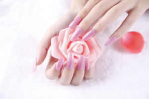 Fashionable Pink Nail Art Nail Sticker pictures & photos