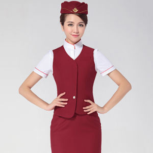 Fashionable Anti-Wrinkle Airlines Uniform for Ladies pictures & photos