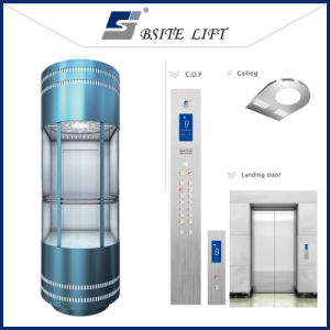 Panoramic Elevator with Observation Glass Wall for Sightseeing pictures & photos
