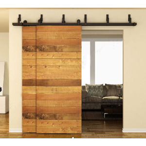 Black Rustic Carbon Steel Barn Style Wooden Sliding Door Hardware Made in China pictures & photos