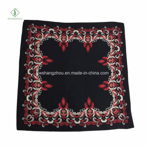 New Fashion Big Square Scarf French Cotton Printed Muslim Hijab pictures & photos