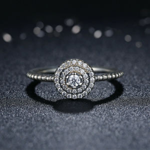 Silver Round Shape Radiant Flower Finger Ring pictures & photos