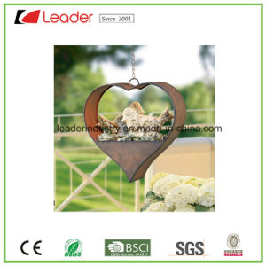 Metal Garden Product Hanging Flowerpot with Rustic Color Finished pictures & photos