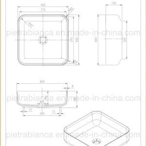 Modern Bathroom Counter Top Basin (PB2120-360) pictures & photos