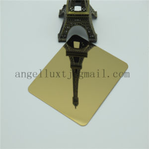 SUS304 Stainless Steel Sheet Mirror Ti-Gold Color Steel Plate Made in China pictures & photos