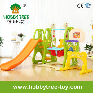 2017 Popular Style Kids Indoor Plastic Slide Swing Basket Hoop (HBS17002C) pictures & photos