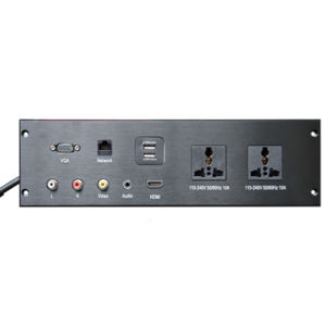 Aluminum Multimedia Desktop Socket AV HDMI VGA RJ45 Dual USB Table Socket pictures & photos