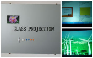 Office Supply Magnetic Glass Projection Screen Board with Writing Function