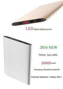 Powerbank External Battery Pack for Cellphones High Capacity 20000mAh Dual USB Charger pictures & photos