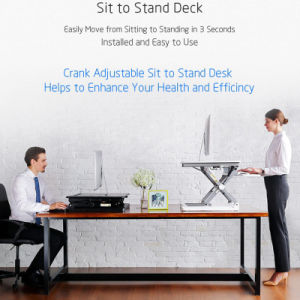 Height Adjustable Monitor Stand Office Desk with Keyboard Tray pictures & photos