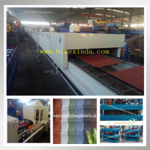 Stone Coated Metal Sheet Roof Tile Forming Machinery pictures & photos