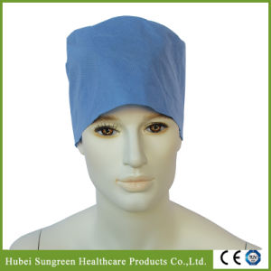 Disposable SMS Surgical Cap with Elastic at Back pictures & photos