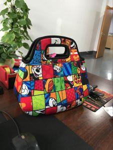 Fashion Custom Printing Christmas Gift Handled Thermal Neoprene Lunch Bag pictures & photos