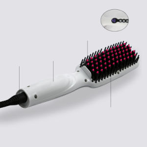 High LED Screen Hair Straightening Comb with Brush pictures & photos