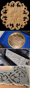 3D Embossment Wood MDF Furniture CNC Router Engraving Machine pictures & photos