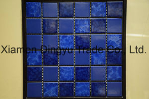 Blue Color Swimming Pool Glass Mosaic Blend, Glass Mosaics pictures & photos