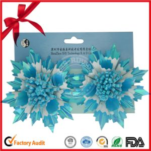 Winter Sky-Blue Star Flower Festival Decoration Bow pictures & photos