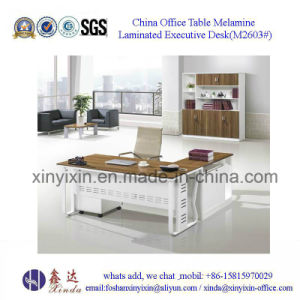 Malaysian Wooden Furniture Modern Melamine Office Desk (M2601#) pictures & photos
