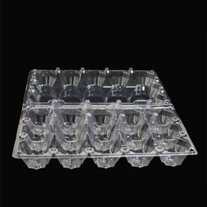 15PCS disposable clear plastic egg blister tray clamshell(PET clamshell) pictures & photos