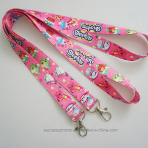Custom Promotion Polyester Sublimation Lanyards with Detachable Buckle pictures & photos
