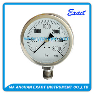 All Stainless Steel Bottom Connection Vacuum Pressure Gauge pictures & photos