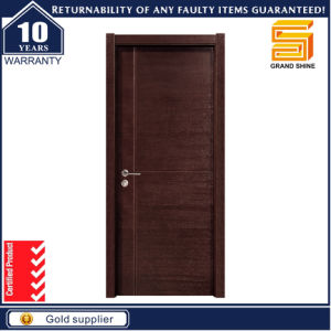 E1 Certificate Modern Panel Solid Wooden Door for Family Room pictures & photos
