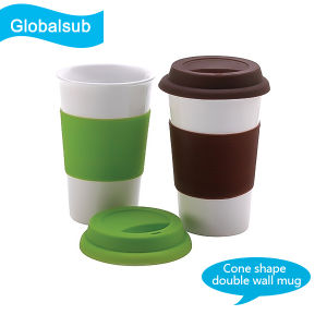 Sublimation Polymer Cone Mug of Customized Coffee Mug pictures & photos