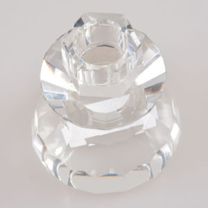 Small Clear Color Crystal Candle Holder for Decoration pictures & photos
